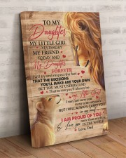 My Little Girl Yesterday Lion Dad To Daughter 20x30 Gallery Wrapped Canvas Prints aos-canvas-pgw-20x30-lifestyle-front-07