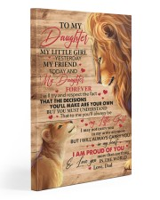 My Little Girl Yesterday Lion Dad To Daughter 20x30 Gallery Wrapped Canvas Prints front