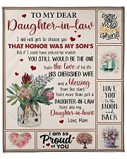 "To Daughter-In-Law U're Also My Daughter-In-Heart Fleece Blanket - 50"" x 60"" front"