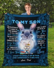 """Sometimes It's Hard To Find Words Dad To Son Fleece Blanket - 50"""" x 60"""" aos-coral-fleece-blanket-50x60-lifestyle-front-01a"""