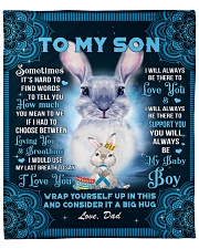 """Sometimes It's Hard To Find Words Dad To Son Fleece Blanket - 50"""" x 60"""" front"""