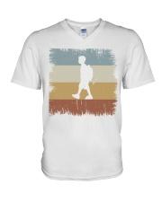 I Go To School Retro T-shirt V-Neck T-Shirt thumbnail