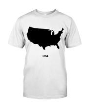 USA Map Premium Fit Mens Tee thumbnail
