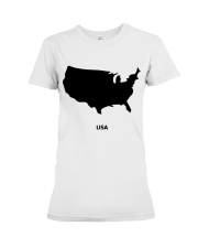 USA Map Premium Fit Ladies Tee thumbnail