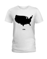 USA Map Ladies T-Shirt thumbnail