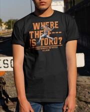 WHERE THE F IS TORO SHIRT Classic T-Shirt apparel-classic-tshirt-lifestyle-29