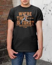 WHERE THE F IS TORO SHIRT Classic T-Shirt apparel-classic-tshirt-lifestyle-31