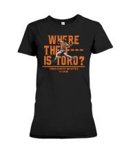 WHERE THE F IS TORO SHIRT Premium Fit Ladies Tee thumbnail