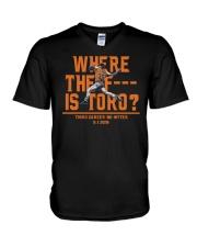 WHERE THE F IS TORO SHIRT V-Neck T-Shirt thumbnail