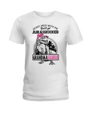 DON'T MESS WITH ME - GRANDMASAURUS Ladies T-Shirt thumbnail