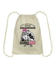 DON'T MESS WITH ME - GRANDMASAURUS Drawstring Bag thumbnail