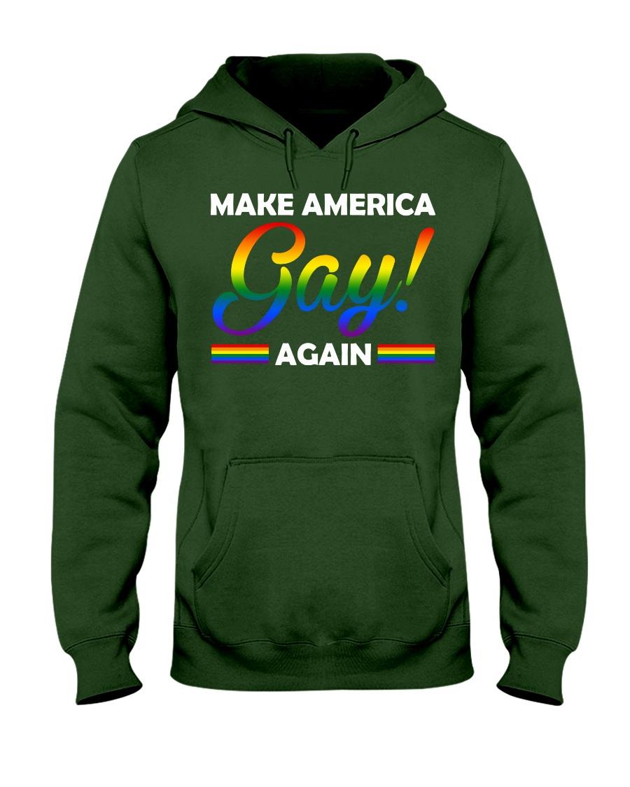 america gay Hooded Sweatshirt
