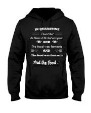 Quaratine time food Hooded Sweatshirt thumbnail