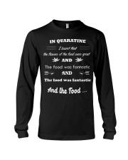 Quaratine time food Long Sleeve Tee thumbnail