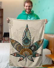"Cannabis Small Fleece Blanket - 30"" x 40"" aos-coral-fleece-blanket-30x40-lifestyle-front-09"