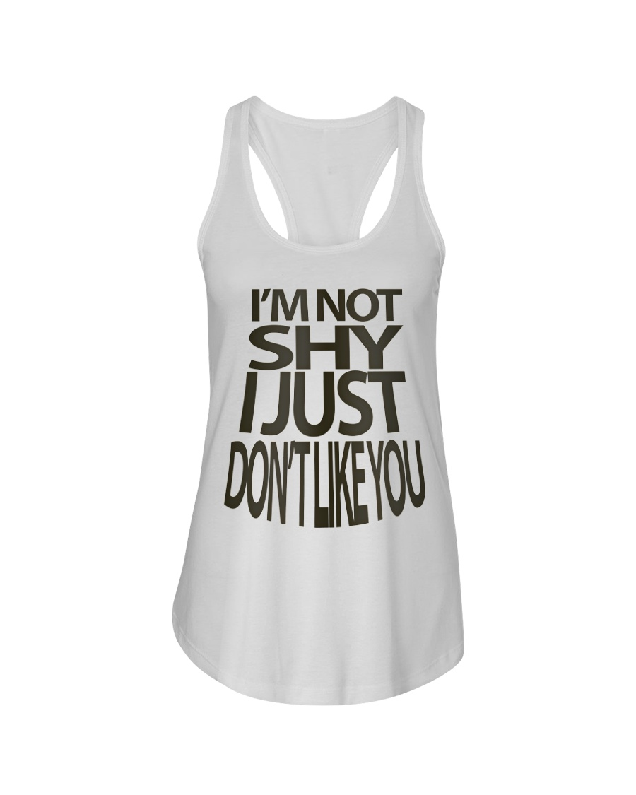 I'm Not Shy Ladies Flowy Tank