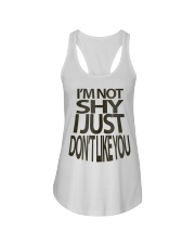 I'm Not Shy Ladies Flowy Tank front