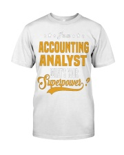 Accounting Analyst 6 Classic T-Shirt front