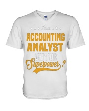 Accounting Analyst 6 V-Neck T-Shirt thumbnail