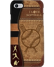 I love softball Vintage Gift for you Phone Case i-phone-8-case