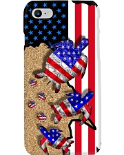 Turtle American flag Gift for you Phone Case i-phone-8-case