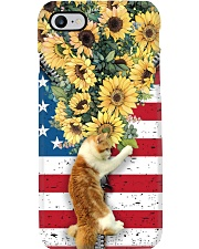 Cat flowers and freedom cat lovers cat moms Phone Case i-phone-8-case
