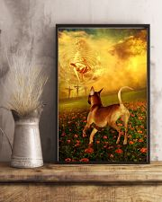 Rhodesian Ridgeback went with God poster 11x17 Poster lifestyle-poster-3