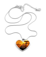 Cat and jesus necklace Metallic Heart Necklace aos-necklace-heart-metallic-lifestyle-03