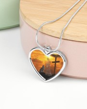 Cat and jesus necklace Metallic Heart Necklace aos-necklace-heart-metallic-lifestyle-09
