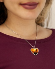 Cat and jesus necklace Metallic Heart Necklace aos-necklace-heart-metallic-lifestyle-1