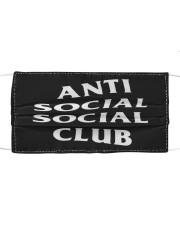 anti social social club mask Cloth face mask thumbnail