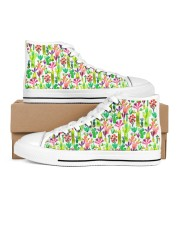 Cacti Succulent Garden Women's High Top White Shoes thumbnail