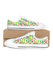 Cacti Succulent Garden Women's Low Top White Shoes thumbnail