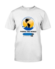 Paddleboard Paddle the World graphic t-shirt  Classic T-Shirt front