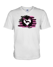 My Doxie Matters- Dachshund  V-Neck T-Shirt thumbnail