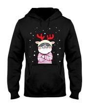 Cute Cat Christmas Hooded Sweatshirt thumbnail