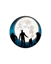 The halloween moon 2 Circle Magnet thumbnail