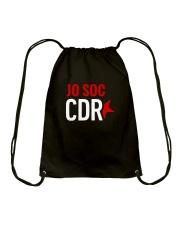 Jo soc CDR - Negre Drawstring Bag thumbnail