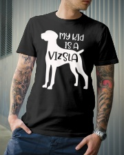 My Kids Is A Vizsla Silhouette Dog Funny Pet Owner Premium Fit Mens Tee lifestyle-mens-crewneck-front-6