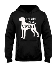 My Kids Is A Vizsla Silhouette Dog Funny Pet Owner Hooded Sweatshirt thumbnail