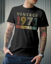 Retro Vintage 1971 Original Parts Birthday Premium Fit Mens Tee lifestyle-mens-crewneck-front-6