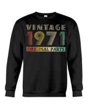Retro Vintage 1971 Original Parts Birthday Crewneck Sweatshirt thumbnail