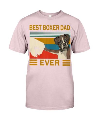 Best Dog Boxer Dad Ever Vintage