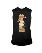 Kittens Cats Tea And Books Sleeveless Tee thumbnail