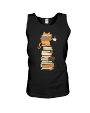 Kittens Cats Tea And Books Unisex Tank thumbnail