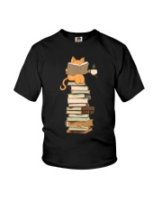 Kittens Cats Tea And Books Youth T-Shirt thumbnail