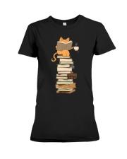 Kittens Cats Tea And Books Premium Fit Ladies Tee thumbnail
