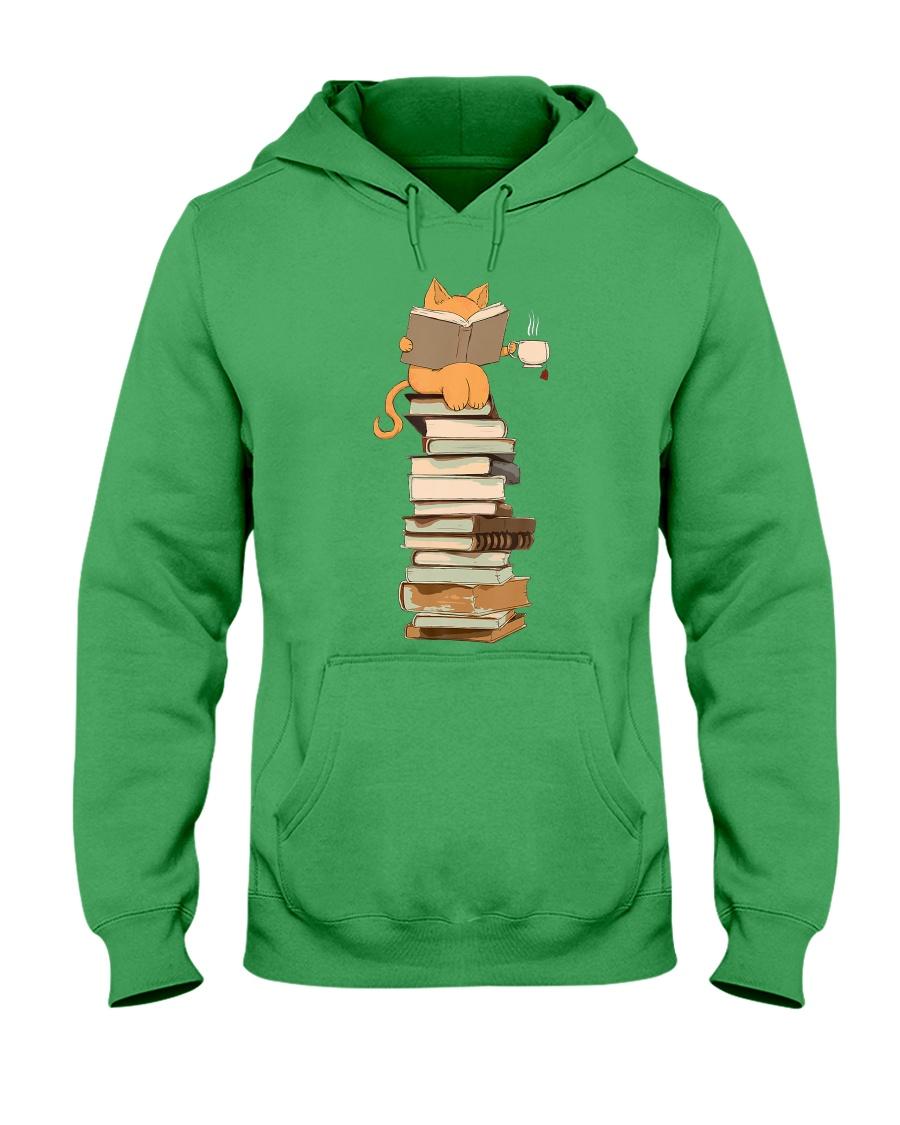 Kittens Cats Tea And Books Hooded Sweatshirt