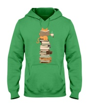 Kittens Cats Tea And Books Hooded Sweatshirt front