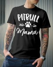 Pitbull Mama Shirt Pit bull Lover Owner Premium Fit Mens Tee lifestyle-mens-crewneck-front-6